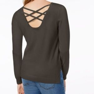 Hippie Rose Strappy Back Sweater NWT